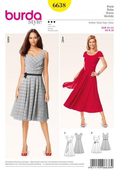 6687 Burda kjole & jakke Stoffdronning.no